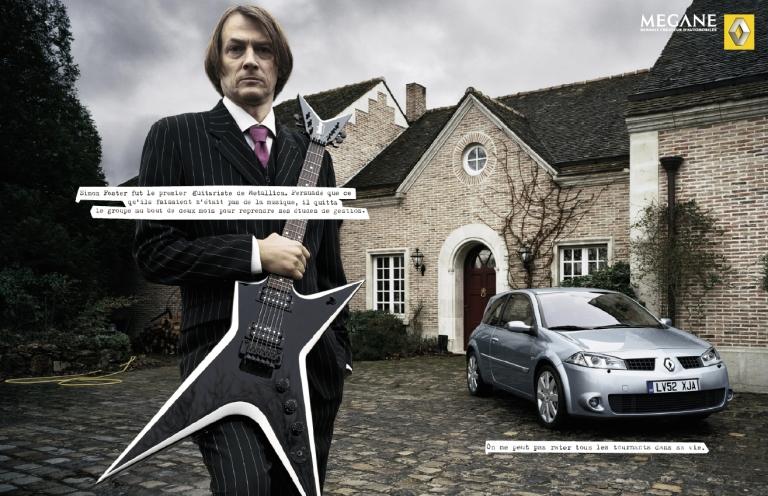 Publicité presse Renault megane_Metallica